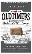 Oldtimers grau Drop Met Historie zwart-wit Salmiak Klinkers.
